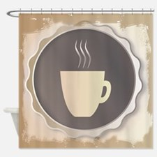Coffee Background Shower Curtain