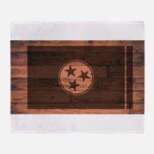 Tennessee Flag Brand Throw Blanket