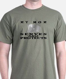 Serves & Protects Hat - Mom T-Shirt