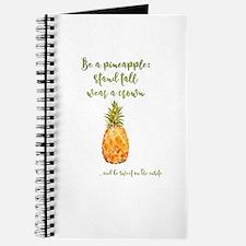 Be a pineapple - watercolor artwork Journal
