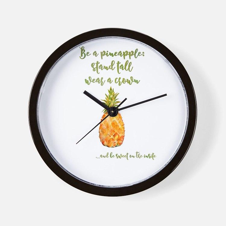 Be a pineapple - watercolor artwork Wall Clock