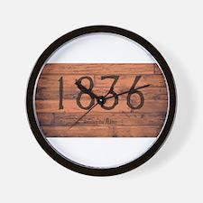 1836 The Alamo Date Brand Wall Clock