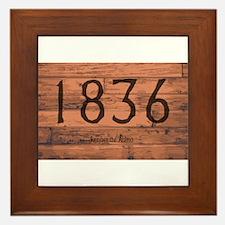 1836 The Alamo Date Brand Framed Tile