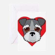 Schnauzer Face Greeting Cards