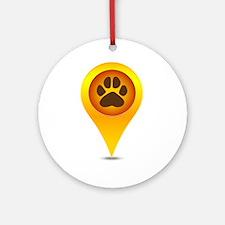 Pet paw pointer Round Ornament