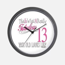 13th Birthday Gifts Wall Clock