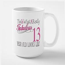 13th Birthday Gifts Large Mug