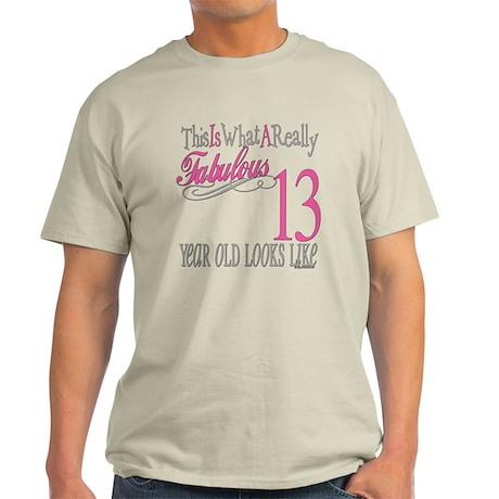 13th Birthday Gifts Light T-Shirt