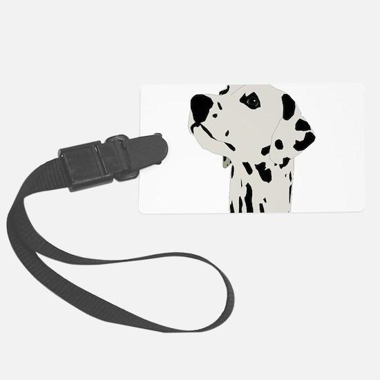 Pes Dalmatian art Luggage Tag