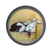 Westie and Bunny Wall Clock