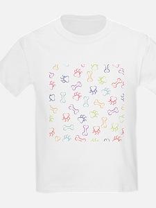 Dog paw and bone stroke seamless pattern T-Shirt