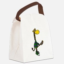 Giraffe Playing Lacrosse Canvas Lunch Bag