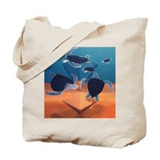 The Turtle Race Tote Bag & Logo on back