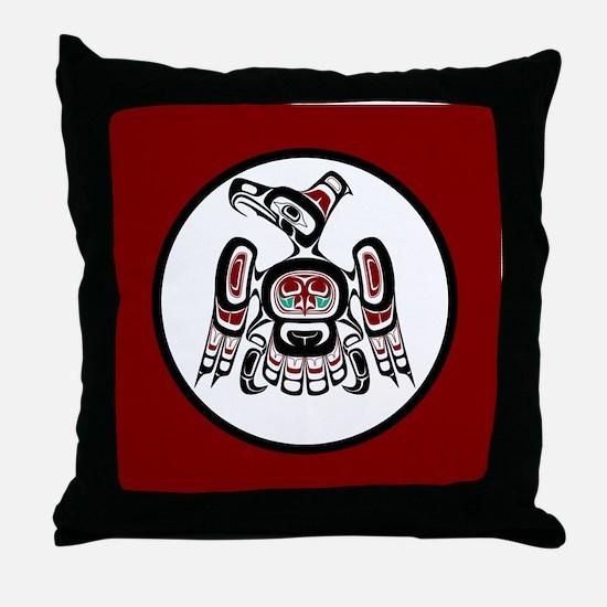 Northwest Pacific coast Kaigani Thund Throw Pillow
