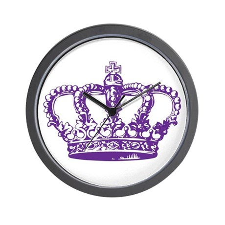 Purple Crown Wall Clock