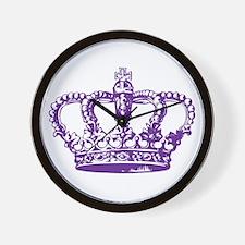 Purple Crown Wall Clock