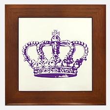 Purple Crown Framed Tile