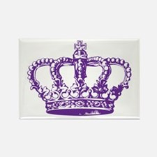 Purple Crown Rectangle Magnet