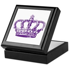 Purple Crown Keepsake Box