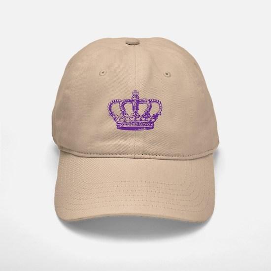 Purple Crown Baseball Baseball Cap