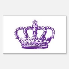 Purple Crown Rectangle Decal