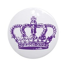 Purple Crown Ornament (Round)