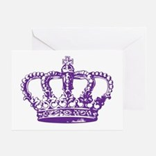Purple Crown Greeting Card