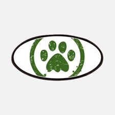 Green paw sign Patch