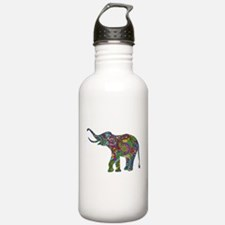 Cute Retro Colorful Fl Sports Water Bottle