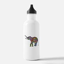 Cute Retro Colorful Fl Water Bottle