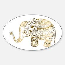 Gold tones cute tribal elephant illustrati Decal