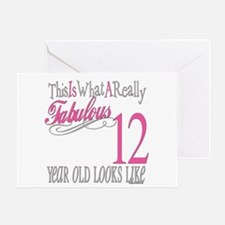 12th Birthday Gifts Greeting Card