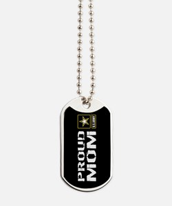 U.S. Army: Proud Mom (Black) Dog Tags