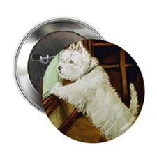 "Waiting Westie 2.25"" Button (10 pack)"