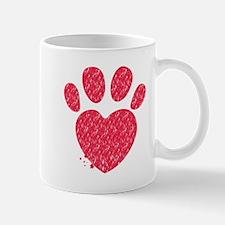 Paw and heart shape Mugs