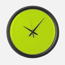 Neon Yellow Solid Color Large Wall Clock