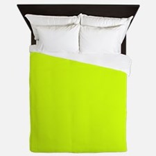 Neon Yellow Solid Color Queen Duvet