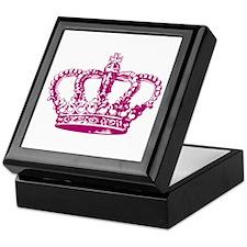 Pink Crown Keepsake Box