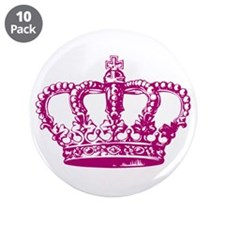 """Pink Crown 3.5"""" Button (10 pack)"""