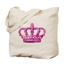 Pink Crown Tote Bag