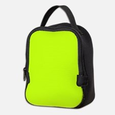 Neon Yellow Solid Color Neoprene Lunch Bag