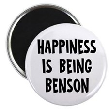 """Happiness is being Benson 2.25"""" Magnet (10 pack)"""