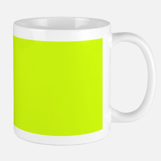 Neon Yellow Solid Color Mugs