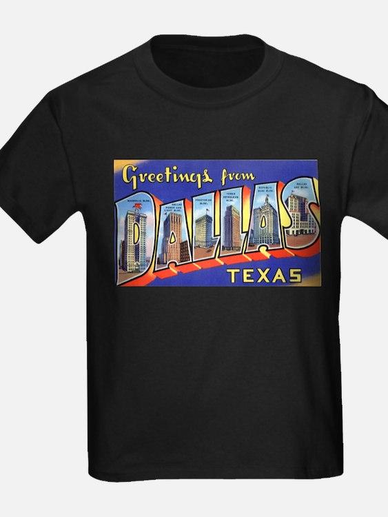 Dallas Texas Greetings Ash Grey T-Shirt