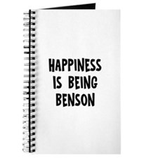 Happiness is being Benson Journal