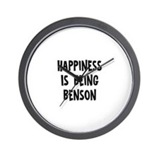 Happiness is being Benson   Wall Clock