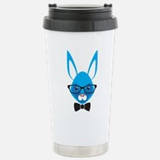 Rabbit with glasses Stainless Steel Travel Mug