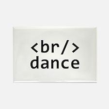 Breakdance Code Rectangle Magnet