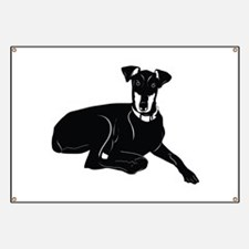Black American English coonhound Banner