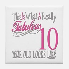 10th Birthday Gifts Tile Coaster